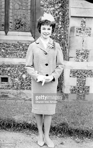 young woman on her wedding day - 1961 stock pictures, royalty-free photos & images