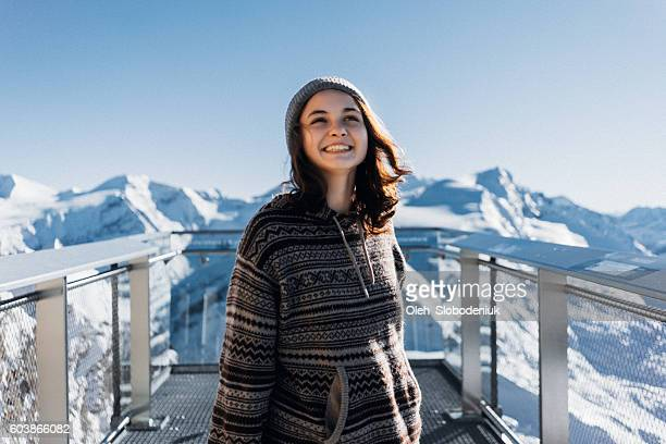 Young woman on Kitzsteinhorn