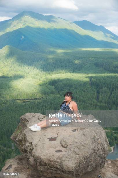 Young Woman On Mountain Top