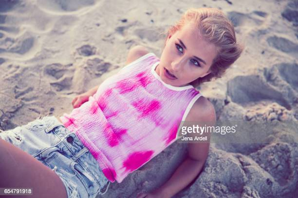 Young Woman On Sand