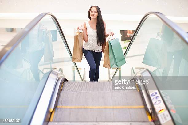 Young woman on shopping spree
