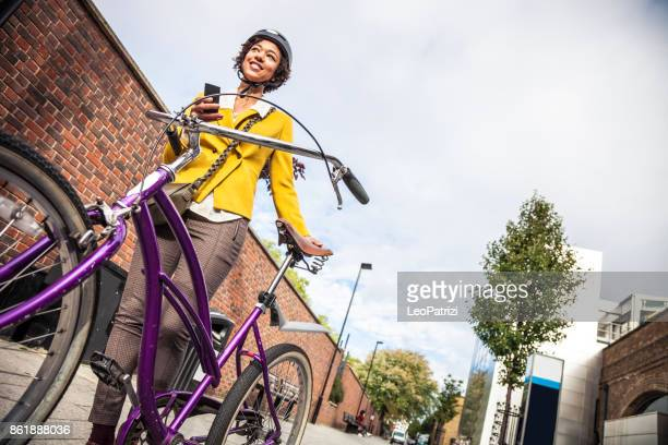 Young woman on the go