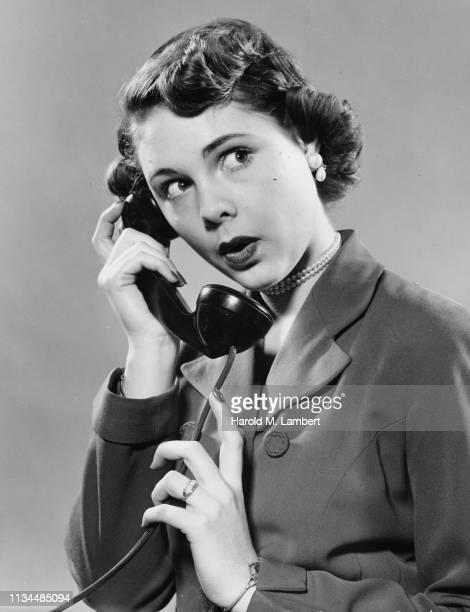 young woman telephone