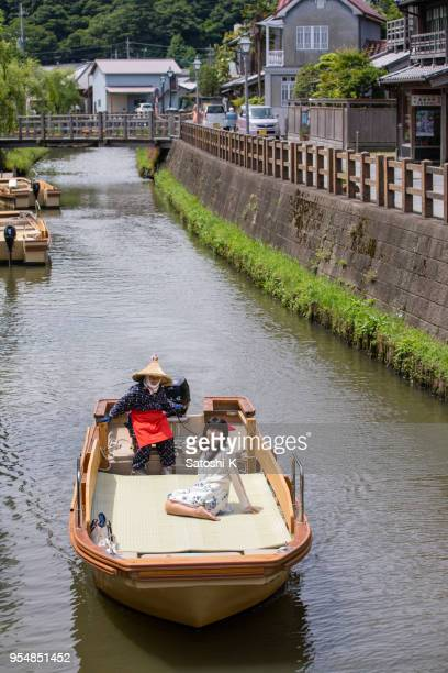 Young woman on tourboat to enjoy sightseeing