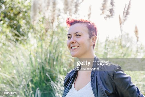 Portrait Of Young Woman Outdoor High-Res Stock Photo