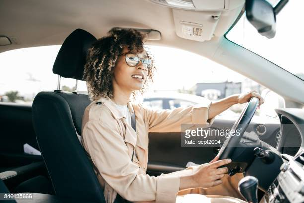 young woman outdoor - driver stock photos and pictures
