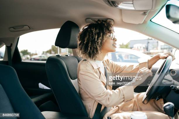 young woman outdoor - driving stock pictures, royalty-free photos & images