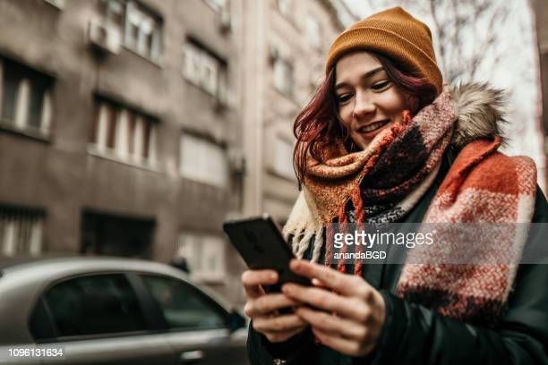 young woman - scarf stock pictures, royalty-free photos & images