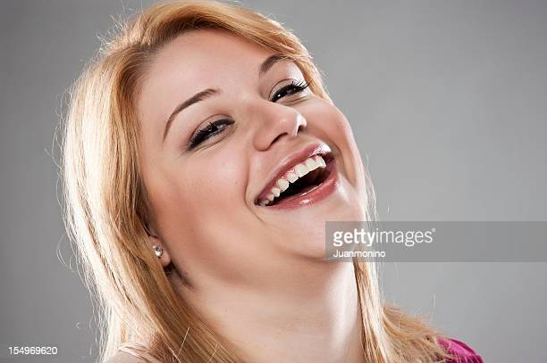 young woman (real people) - fat blonde women stock photos and pictures