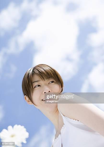 young woman  - 若い女性一人 ストックフォトと画像