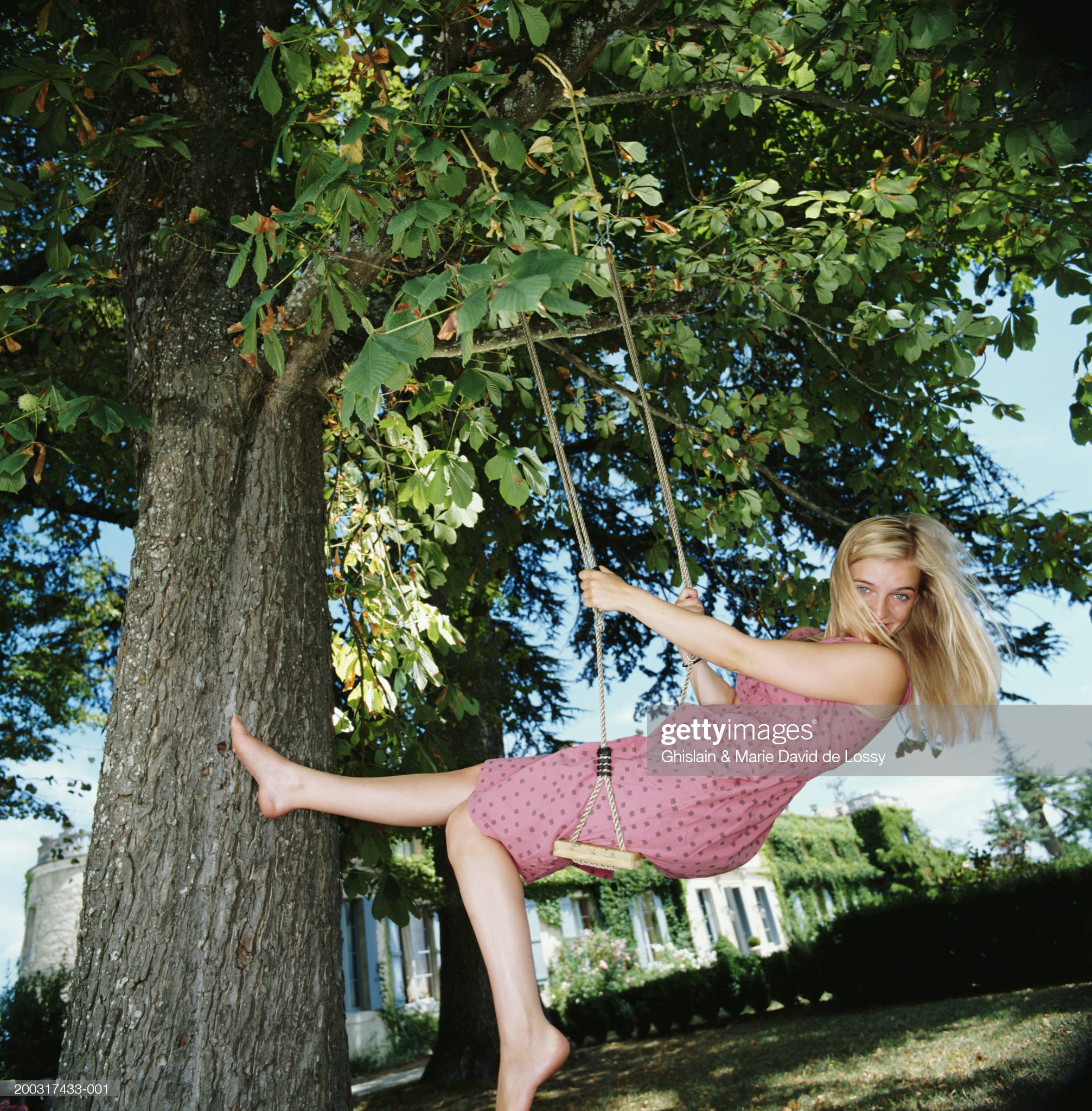 https://media.gettyimages.com/photos/young-woman-playing-on-swing-hung-from-tree-portrait-picture-id200317433-001?s=2048x2048