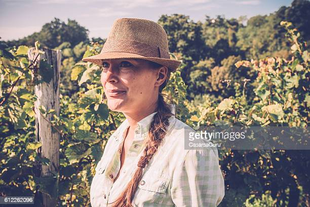 Young Woman Portrait in a Vineyard