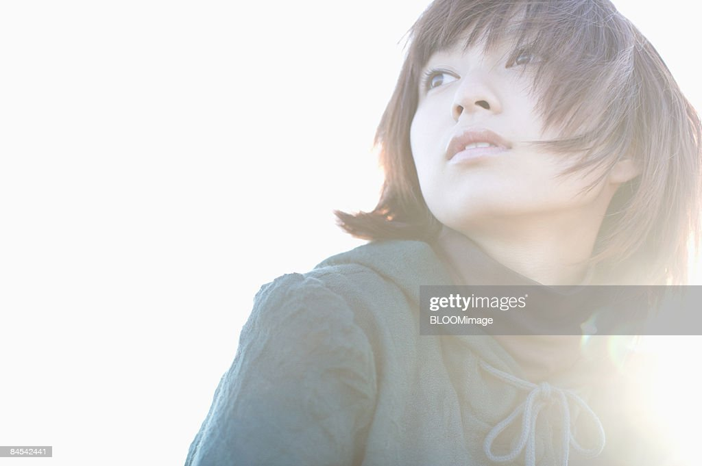 Young woman, portrait, outdoors : Stock Photo