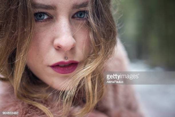 Young woman portrait outdoors