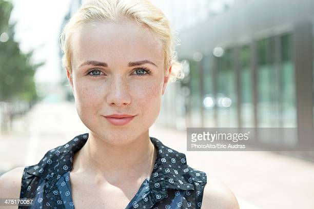 young woman, portrait - french women stock photos and pictures