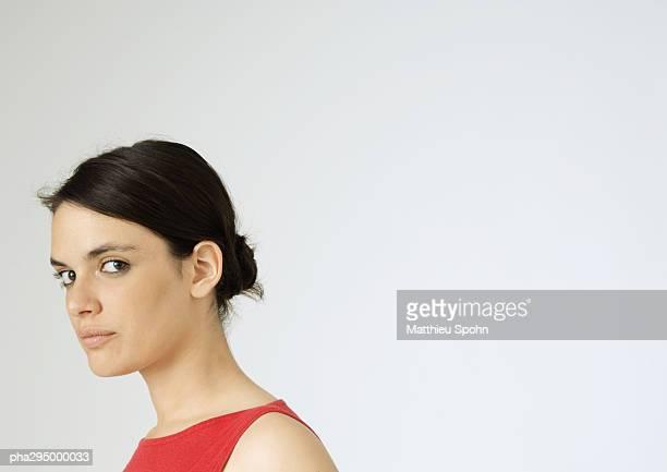 young woman, portrait - ポニーテール ストックフォトと画像
