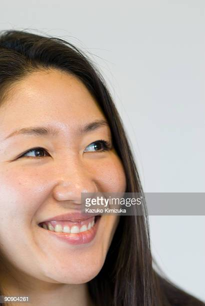 young woman portrait,close up - kazuko kimizuka stock-fotos und bilder