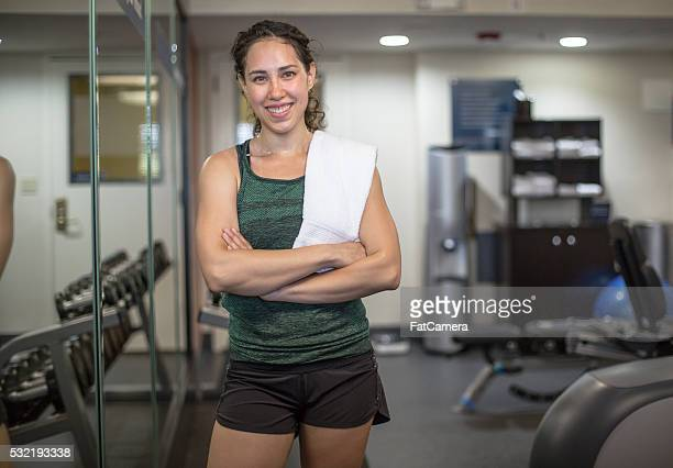 young woman posing in sports clothing after workout - fatcamera stock pictures, royalty-free photos & images