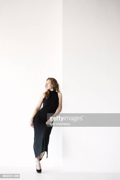 Young woman posing in studio