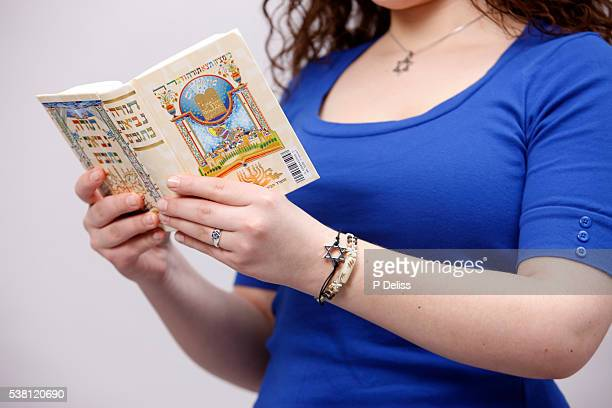 Young Woman Reading from Torah