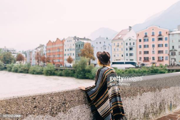 Young woman resting in Innsbruck