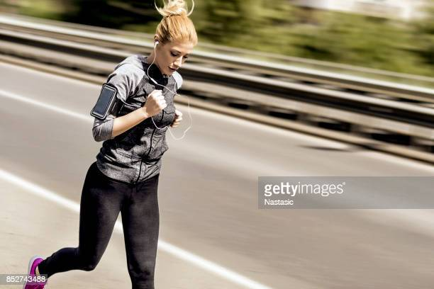 Young woman runing
