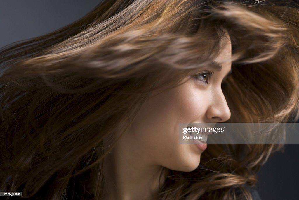 Young woman shaking her head : Foto de stock