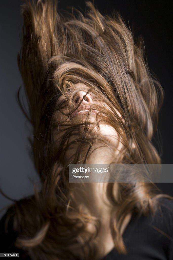 Young woman shaking her head : Foto de stock