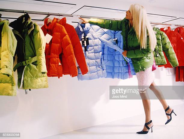 Young Woman Shopping in Clothes Store