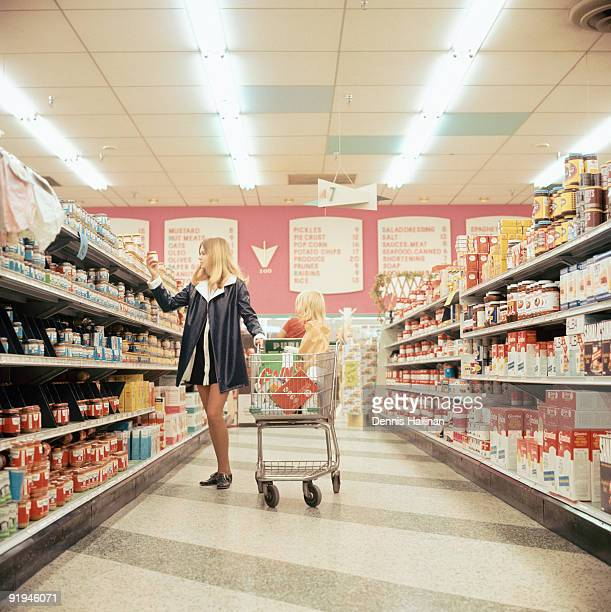 Young woman shopping in super market