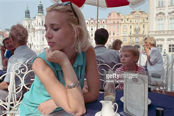 Young Woman Sitting at Cafe