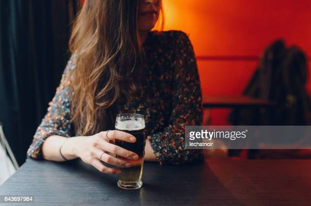 Young woman sitting in the cafe