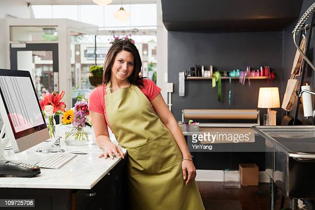 Young Woman Small Business Entrepreneur Owner of Flower Shop