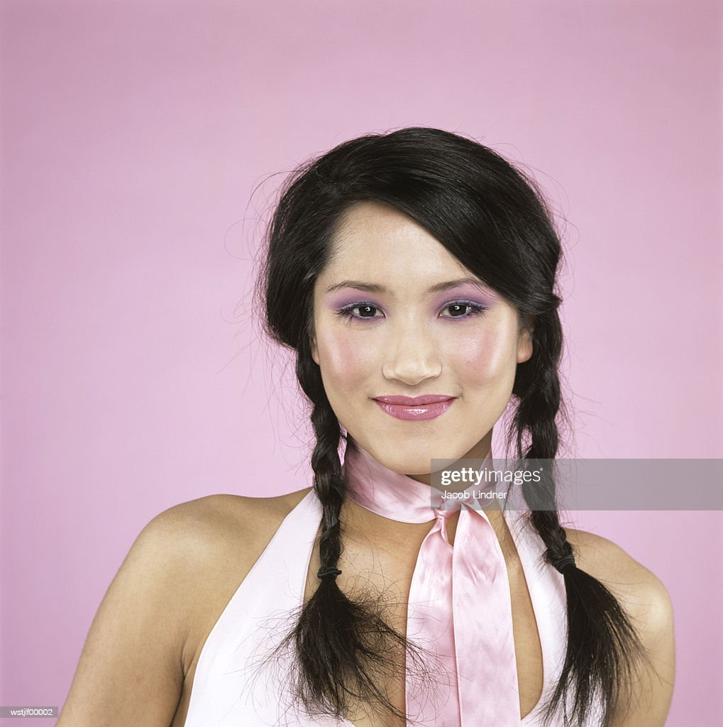 Young woman smiling, close up : Stockfoto