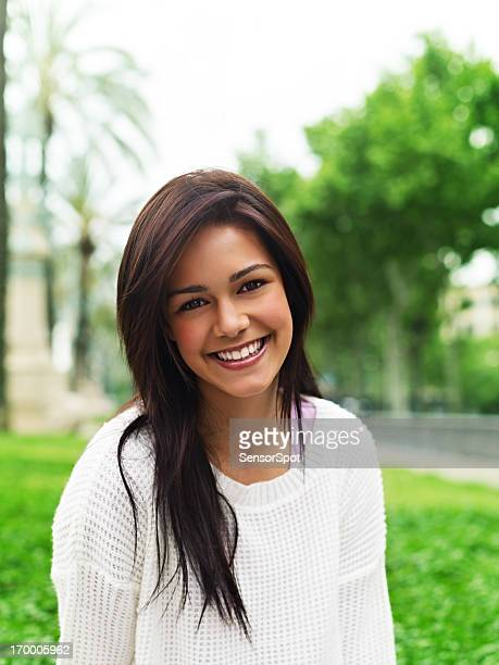 young woman smiling - 18 19 years stock pictures, royalty-free photos & images