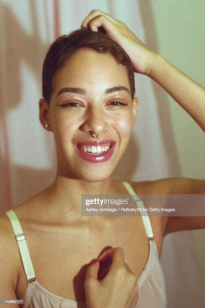 Young Woman Smiling : Stock Photo