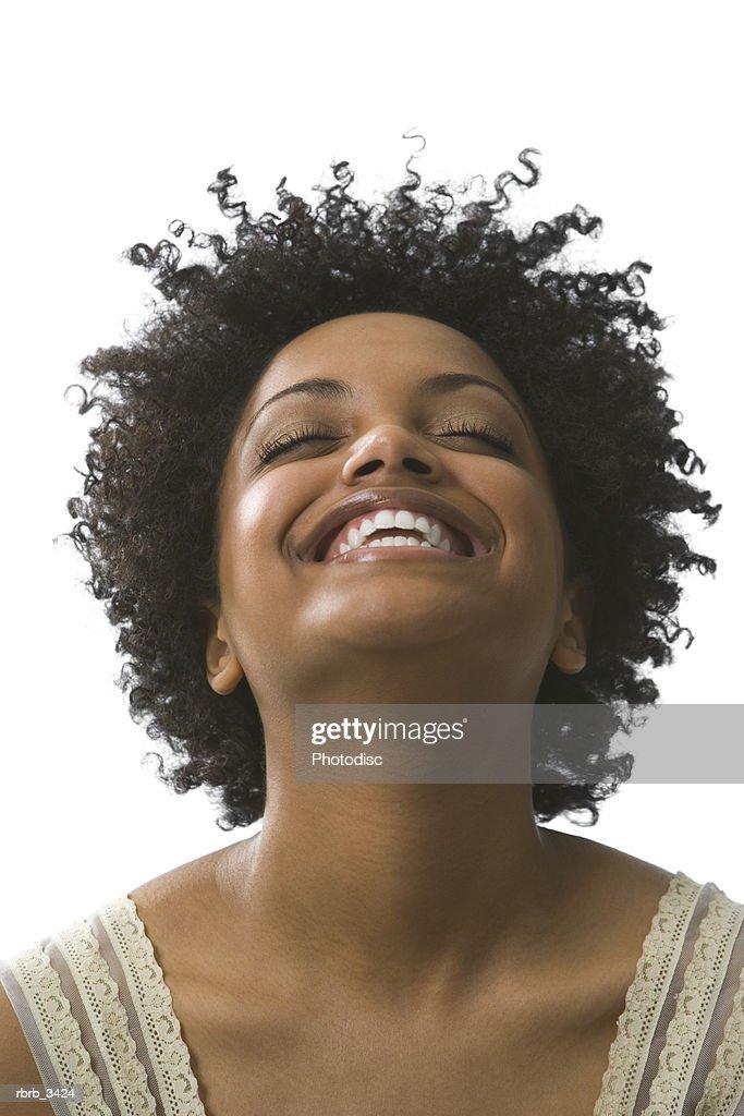 Young woman smiling : Foto de stock