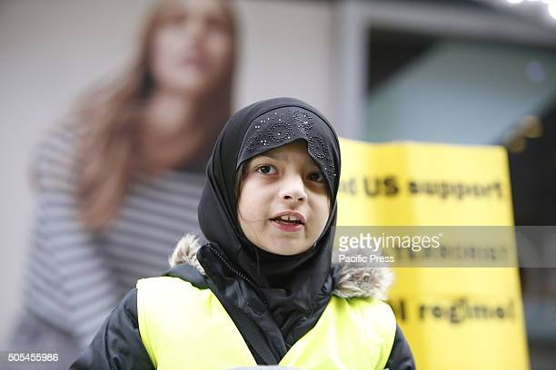 Young woman speaks out in Times Square Hundreds of Muslims gathered in Times Square to protest against the Saudi government's execution of dissident...