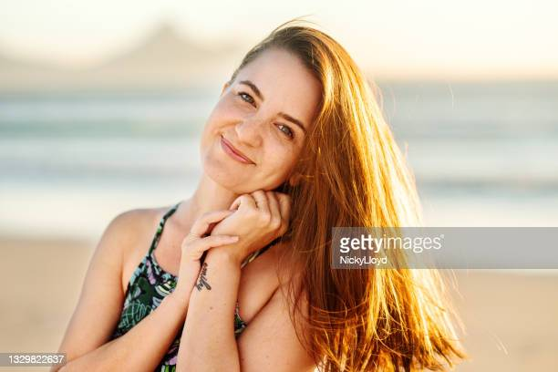 portrait smiling young woman with her