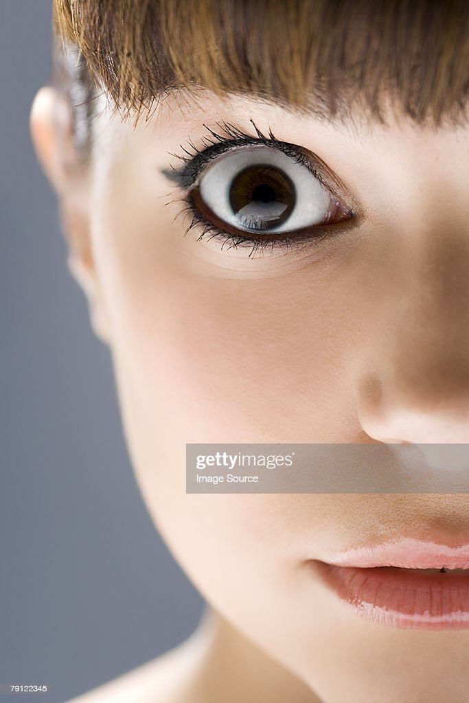 Young woman staring : Stock Photo