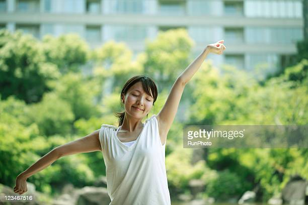 young woman stretching,healthy lifestyle