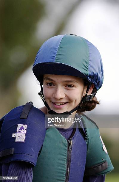 Young woman takes part in an eventing competition United Kingdom