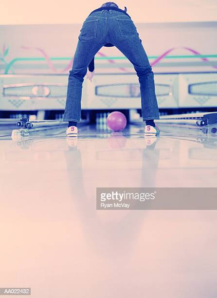 Young Woman Ten Pin Bowling