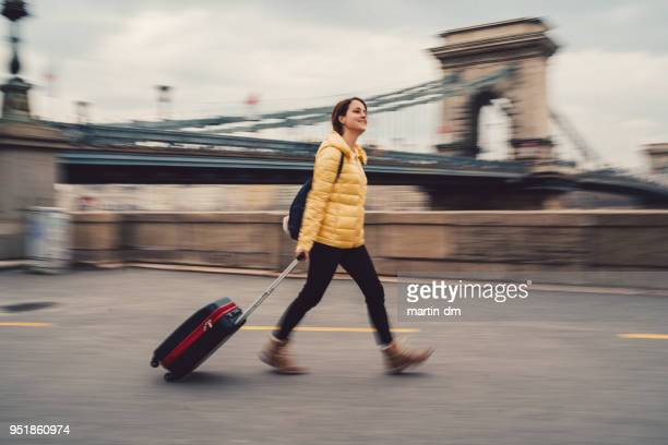 young woman traveling in europe - expatriate stock pictures, royalty-free photos & images