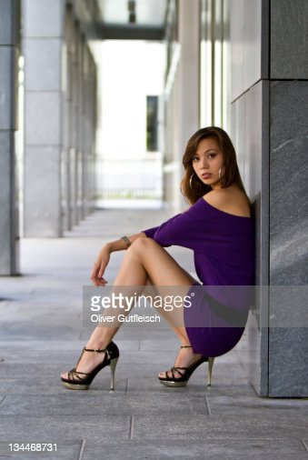 Little Girls And High Heels Stock Photo  Image of pink
