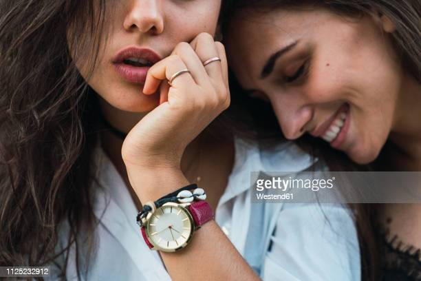 young woman wearing arm wrist - watch timepiece stock pictures, royalty-free photos & images