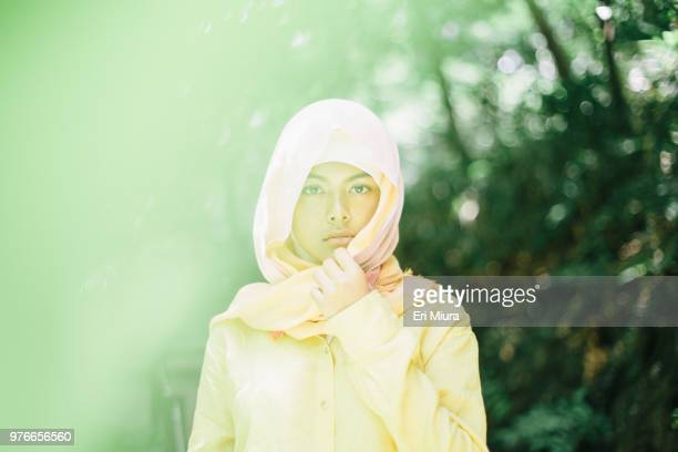 Young woman wearing hijab
