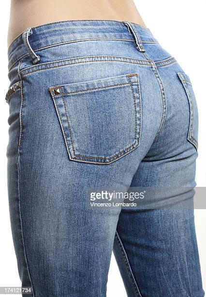 young woman wearing jeans - teen ass fotografías e imágenes de stock