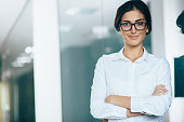 Young woman white collar worker