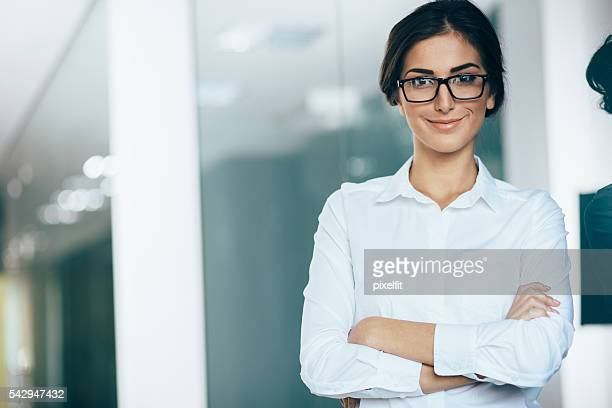 young woman white collar worker - all shirts stock pictures, royalty-free photos & images